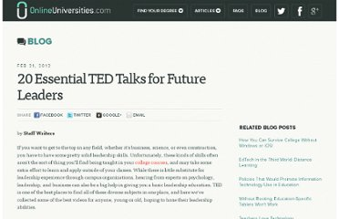http://www.onlineuniversities.com/20-essential-ted-talks-for-future-leaders