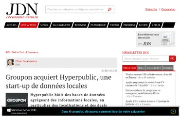 http://www.journaldunet.com/ebusiness/commerce/groupon-rachete-hyperpublic-0212.shtml