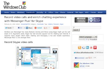 http://www.thewindowsclub.com/messenger-plus-skype
