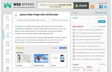 http://www.webappers.com/2012/02/22/jquery-slider-plugin-with-infinite-style/