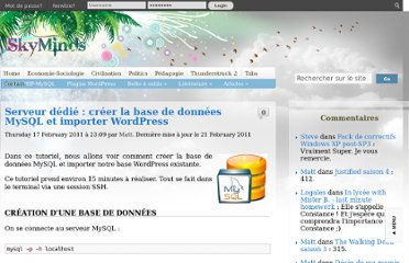 http://www.skyminds.net/serveur-dedie-creer-la-base-de-donnees-mysql-et-importer-wordpress/