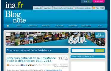 http://blogs.ina.fr/edu/categories/educatif/concours-national-de-la-resistance/#xtor=ES-1-[lettreinfo_22-fevrier-2012]-20120222-[rubrique-evenement_blogs.ina.fr]-413400@1-20120222110000
