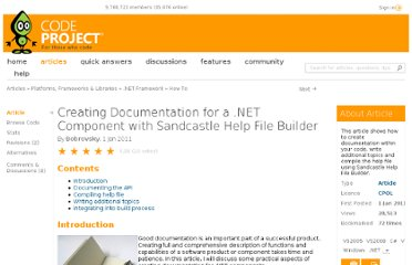 http://www.codeproject.com/Articles/141766/Creating-documentation-for-a-NET-component-with-Sa