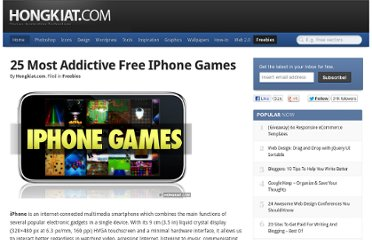 http://www.hongkiat.com/blog/25-most-addictive-free-iphone-games/