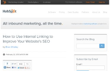 http://blog.hubspot.com/blog/tabid/6307/bid/31388/How-to-Use-Internal-Linking-to-Improve-Your-Website-s-SEO.aspx