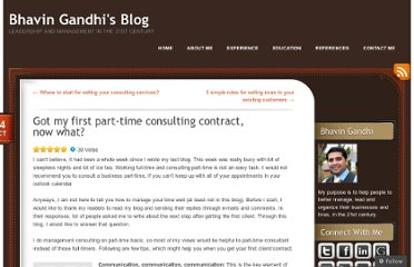 http://bhavingandhi.com/2010/10/24/got-my-first-part-time-consulting-contract-now-what/