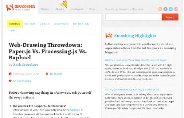 http://coding.smashingmagazine.com/2012/02/22/web-drawing-throwdown-paper-processing-raphael/