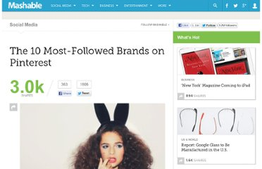 http://mashable.com/2012/02/22/10-most-followed-brands-on-pinterest/