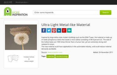 http://www.moreinspiration.com/article/5069-ultra-light-metal-like-material