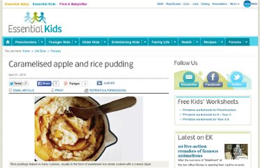 http://www.essentialkids.com.au/life-style/recipes/caramelised-apple-and-rice-pudding-20100512-uwzb.html