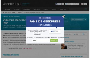 http://www.geekpress.fr/wordpress/astuce/shortcode-en-dehors-loop-wordpress-1031/