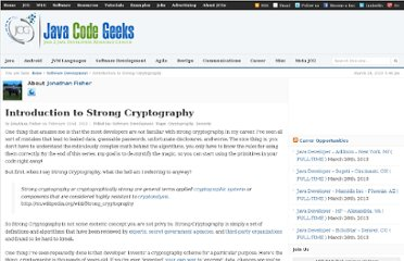 http://www.javacodegeeks.com/2012/02/introduction-to-strong-cryptography-p1.html
