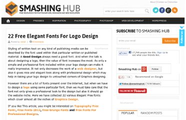 http://smashinghub.com/free-elegant-fonts-for-logo-design.htm