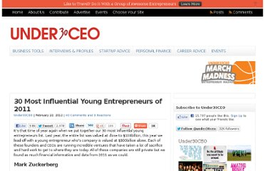 http://under30ceo.com/30-most-influential-young-entrepreneurs-of-2011/
