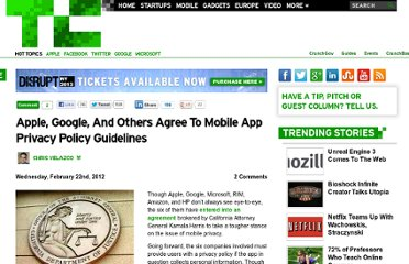 http://techcrunch.com/2012/02/22/apple-google-and-others-agree-to-mobile-app-privacy-policy-guidelines/