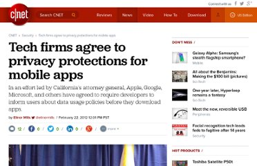 http://news.cnet.com/8301-27080_3-57382965-245/tech-firms-agree-to-privacy-protections-for-mobile-apps/
