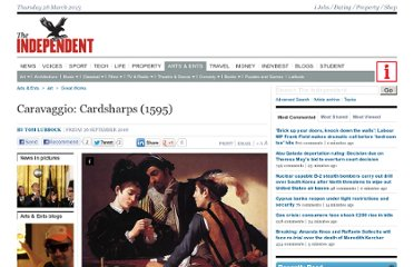 http://www.independent.co.uk/arts-entertainment/art/great-works/caravaggio-cardsharps-1595-942660.html