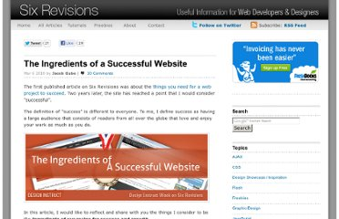 http://sixrevisions.com/project-management/the-ingredients-of-a-successful-website/