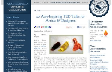 http://www.accreditedonlinecolleges.com/blog/2010/20-awe-inspiring-ted-talks-for-artists-designers/