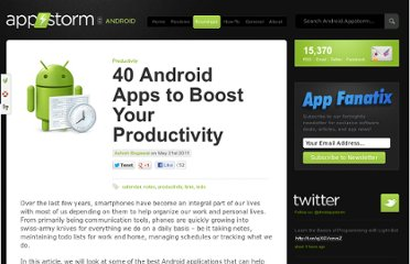 http://android.appstorm.net/roundups/productivity-roundups/40-android-apps-to-boost-your-productivity/