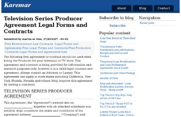 http://www.karemar.com/blog/television-series-producer-agreement-legal-forms-and-contracts