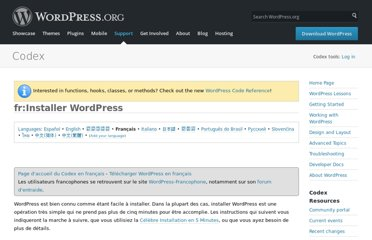 http://codex.wordpress.org/fr:Installer_WordPress