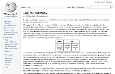 http://en.wikipedia.org/wiki/Logical_harmony