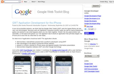 http://googlewebtoolkit.blogspot.com/2007/09/gwt-application-development-for-iphone.html