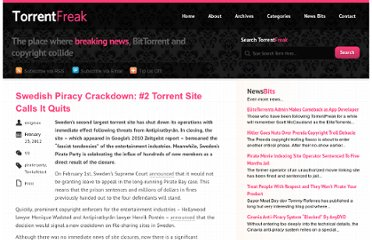http://torrentfreak.com/swedish-piracy-crackdown-2-torrent-site-calls-it-quits-120223/