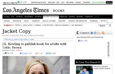 http://latimesblogs.latimes.com/jacketcopy/2012/02/jk-rowling-to-publish-book-for-adults-with-little-brown.html