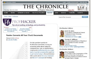 http://chronicle.com/blogs/profhacker/pandoc-converts-all-your-text-documents/38700