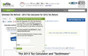 http://www.efile.com/tax-service/tax-calculator/