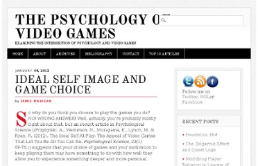 http://www.psychologyofgames.com/2012/01/ideal-self-image-and-game-choice/
