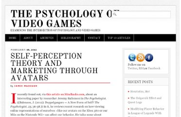 http://www.psychologyofgames.com/2012/02/self-perception-theory-and-marketing-through-avatars/