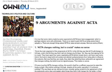 http://owni.eu/2012/02/23/9-arguments-against-acta/