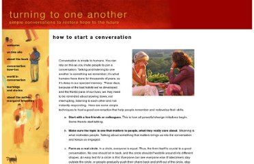 http://turningtooneanother.net/howtostart.html