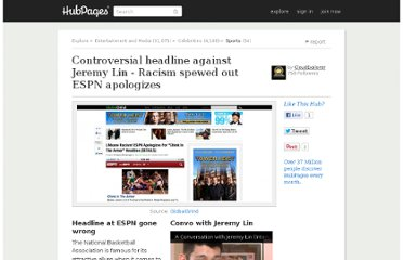 http://cloudexplorer.hubpages.com/hub/Racism-being-spewed-out-from-one-of-the-Top-Sports-Companies-ESPN-Major-headline