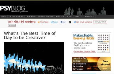 http://www.spring.org.uk/2012/02/whats-the-best-time-of-day-to-be-creative.php