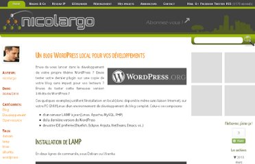 http://blog.nicolargo.com/2010/04/un-blog-wordpress-local-pour-vos-developpements.html