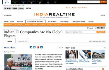 http://blogs.wsj.com/indiarealtime/2012/02/17/indian-it-companies-are-no-global-players/