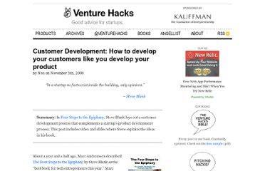 http://venturehacks.com/articles/customer-development