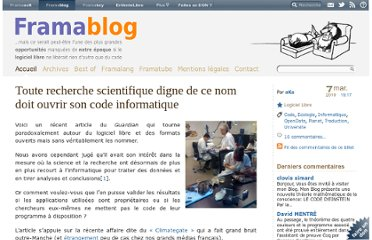 http://www.framablog.org/index.php/post/2010/03/07/recherche-scientifique-code-informatique
