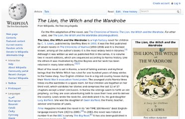 http://en.wikipedia.org/wiki/The_Lion,_the_Witch_and_the_Wardrobe