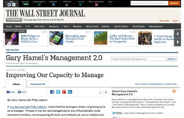 http://blogs.wsj.com/management/2011/04/06/improving-our-capacity-to-manage/