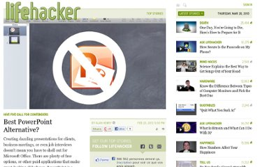 http://lifehacker.com/5887774/best-powerpoint-alternative