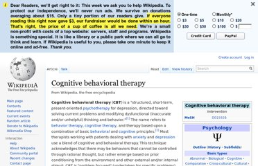 http://en.wikipedia.org/wiki/Cognitive_behavioral_therapy