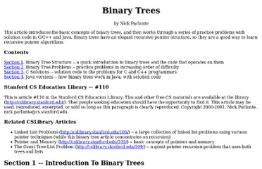 http://cslibrary.stanford.edu/110/BinaryTrees.html