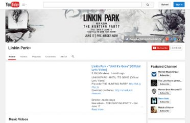 http://www.youtube.com/user/linkinparktv