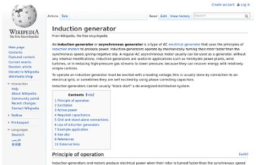http://en.wikipedia.org/wiki/Induction_generator