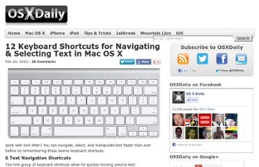 http://osxdaily.com/2012/02/23/keyboard-shortcuts-to-navigate-select-text-mac-os-x/